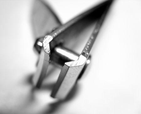 silver-colored nail clipper photo