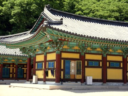a beautiful temple buiding in south korea