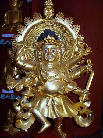 Estatua de un templo budista en Corea Foto de archivo