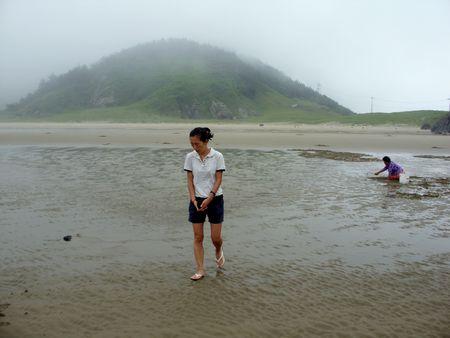 walking on the beach Stock Photo - 5202467