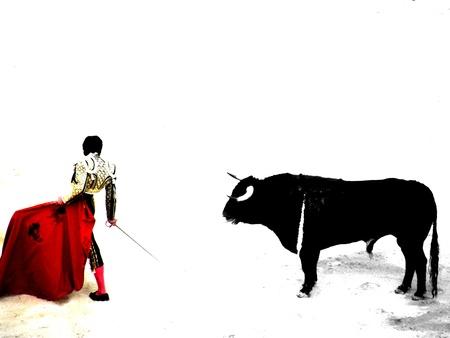 bullfight in nimes in france photo