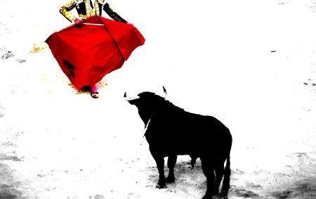 corrida: corrida � N�mes en france Banque d'images