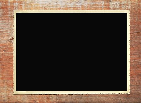 deckled: Vintage photo frame, deckle edged, free copy space