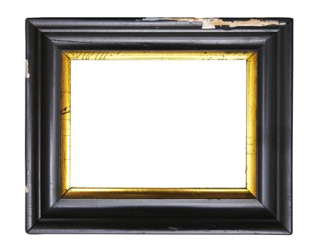 Worn art nouveau picture frame, free copy space, design element, grunge photo
