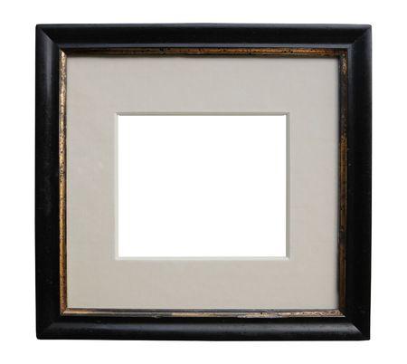 Worn art nouveau picture frame,free copy space, design element,grunge,shadow gap Stock Photo