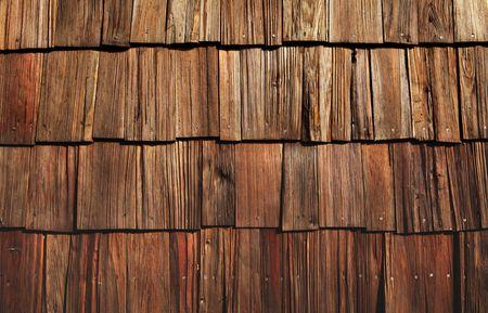 cedar shakes: tejas de madera de gran fondo o fondos de escritorio ro�oso Foto de archivo
