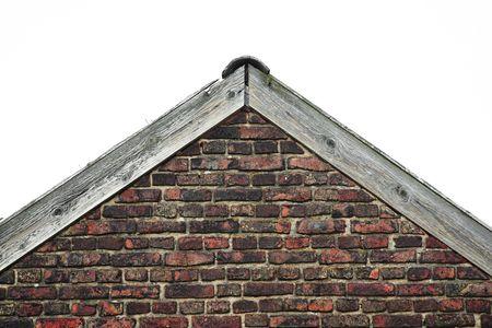 gable: vintage gable with weathered bricks