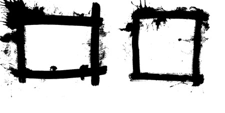 two grungy vector frames scalable to any size Vector