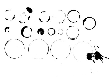 Stamps and marks of glasses and bottles,water rings, vector format, scalable to any size