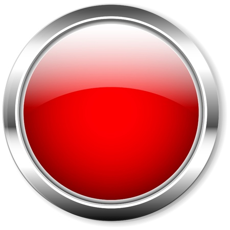vector button: shiny red button,vector,free copy space