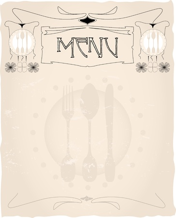 tasteful vintage menu card design layout,vector,free copy space