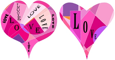 set of hearts, love concept, vector illustration Stock Vector - 9931896
