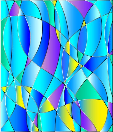 Stained glass texture, blue tone.