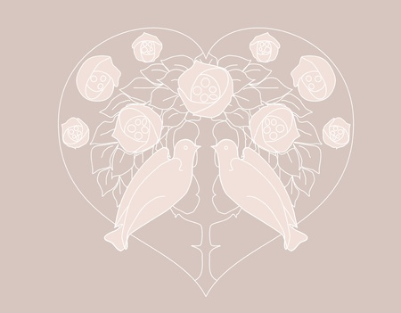 Ilustración artística de corazón y amor Ilustración de vector