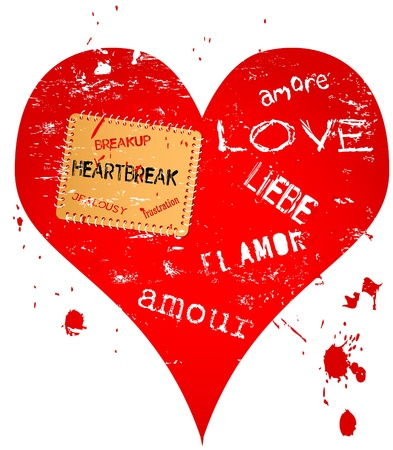 heartbreak issues: lost love and heartbreak illustration