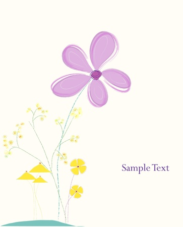 greenfield: artificial pastel flower illustration, free copy space, spring flowers