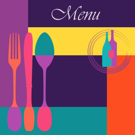 Menu card design template,copy space Vector