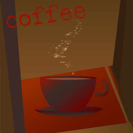 Coffee shop menu, design template,copy space Stock Vector - 12488285