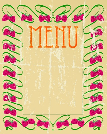 vintage menu card, arts and craft style Vector