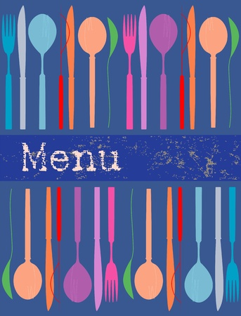 menu card design template, illustration Vector