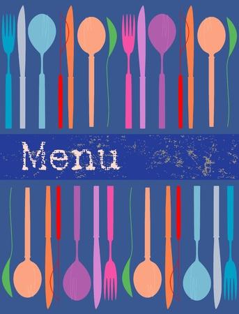 menu card design template, illustration