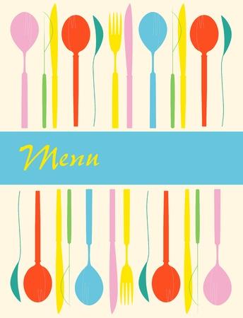 menu card design template, illustration Vector