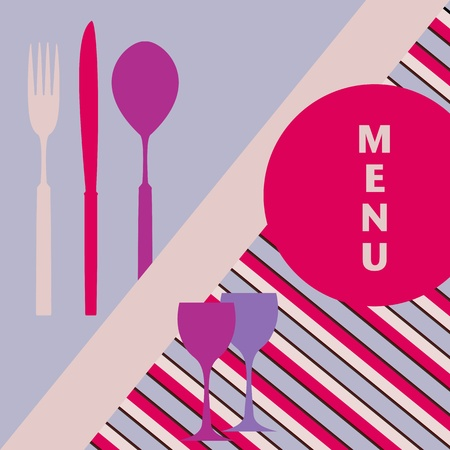design template for restaurant card, free copy space