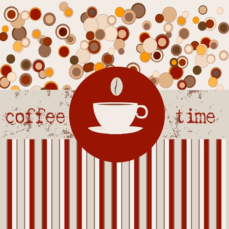 Coffee, design template,copy space Vector