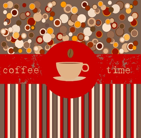 Coffee time, design template,copy space Stock Vector - 13414913