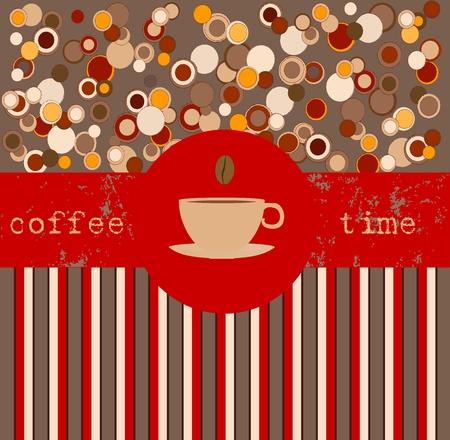 La hora del café, plantilla de diseño, espacio de la copia Foto de archivo - 13414913