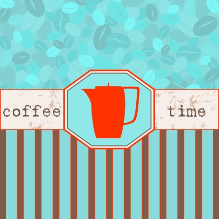 Coffee time menu, design template,copy space Vector
