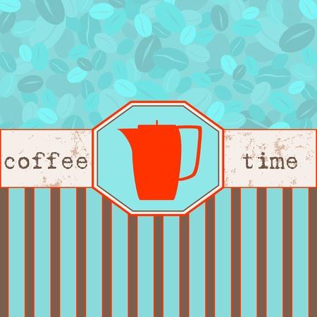 Coffee time menu, design template,copy space Stock Vector - 13414914