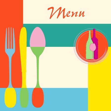 menu card design template for restaurant, vector illustration