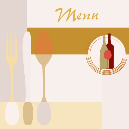 menu card design template for restaurant, copy space Vector