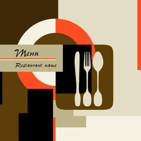 restaurant menu design template, copy space Illustration