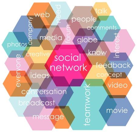 social network concept, vector illustration Stock Illustratie