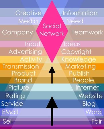 social network concept, vector illustration Vector