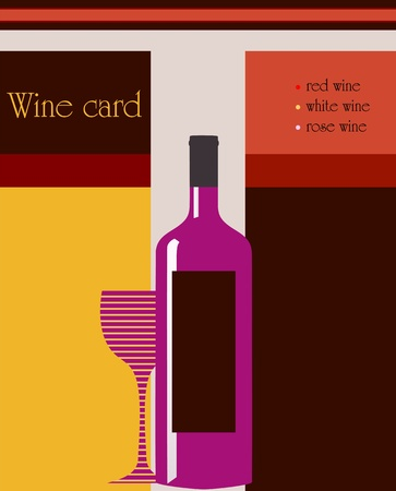 design template for restaurant wine card, free copy space Vector