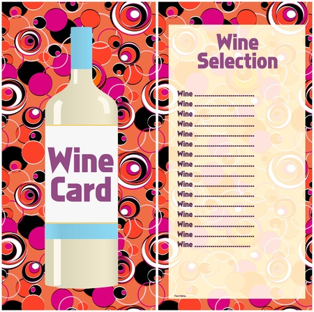 Wine card design template, free copy space