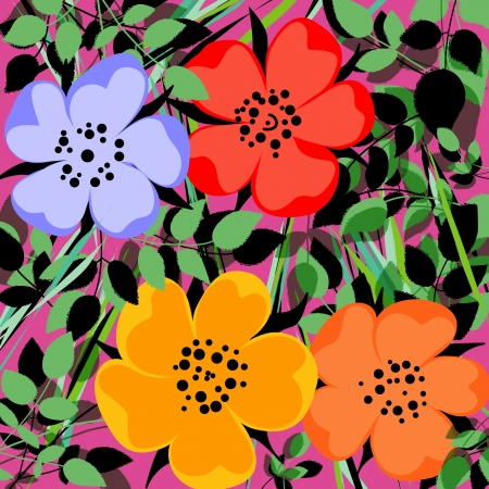 abstract flower background, modern style Vector