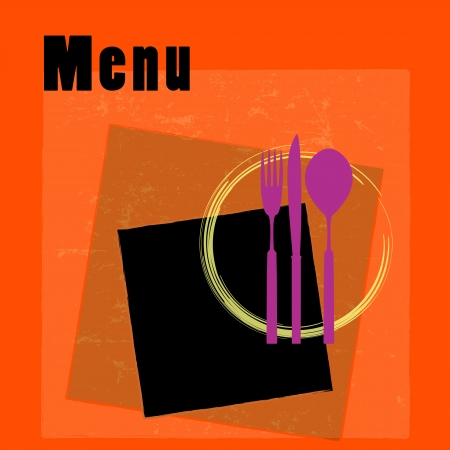 restaurant menu card design template, copy space Vector