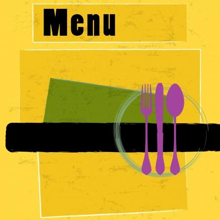 restaurant menu card design template, copy space Stock Illustratie