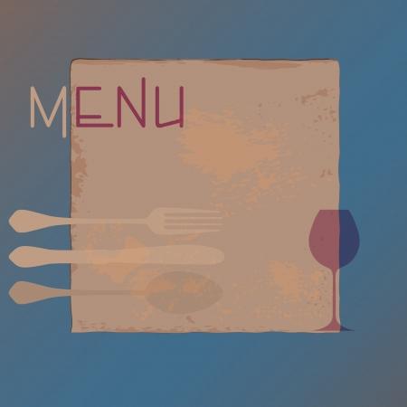 menu card design template for restaurant, free copy space Ilustrace