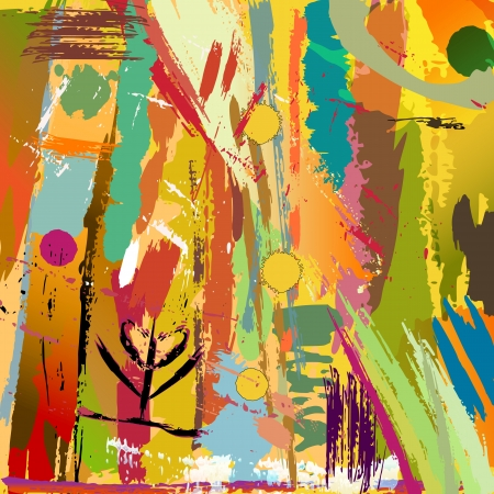 vivid colors: abstract background Illustration