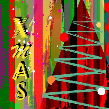 grungy chrismas background, with strokes and splashes Stock Vector - 16461011