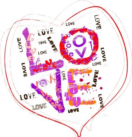 Grungy Love illustration Stock Vector - 17317212