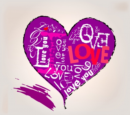 Love and heart illustration Vector