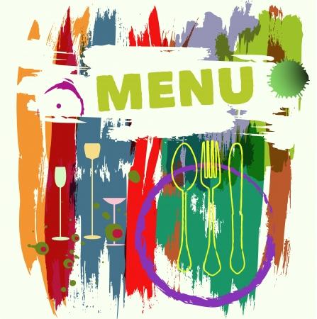 Menu card design, vector illustration Vektorgrafik