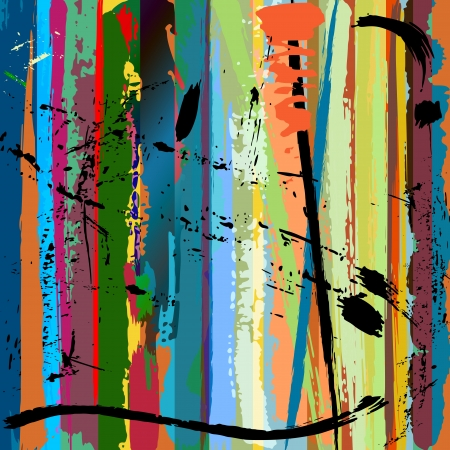 arte moderno: resumen de antecedentes, con trazos de pintura y salpicaduras