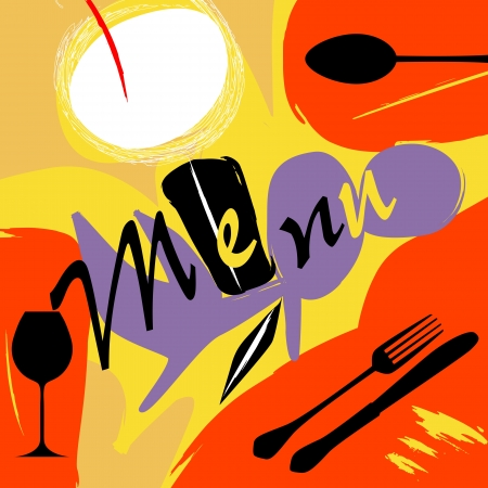 restaurant menu design template, free copy space photo